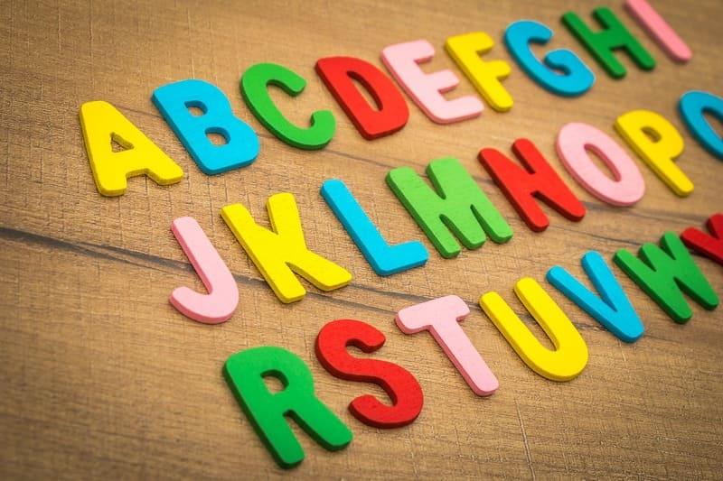 abecadło do nauki angielskiego